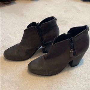 Rag and Bone Grey Leather Booties Size 39.5